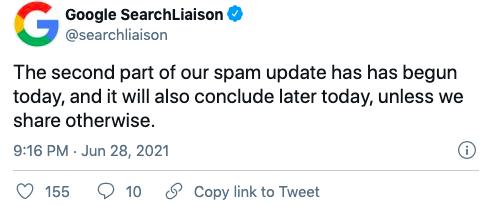 google-spam-update